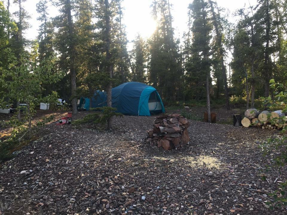East Arm Fishing Trip, Camping on an island, Yellowknife Sportfshing Adventures