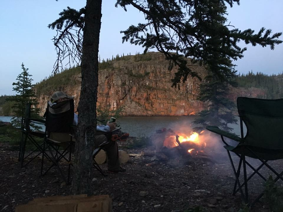 East Arm Fishing Trip, Camping in the East Arm, Yellowknife Sportfishing Adventures