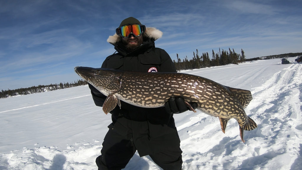 Yellowknife ice fishing